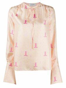 LANVIN JL print blouse - PINK
