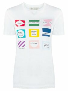 Être Cécile short sleeve flags print T-shirt - White