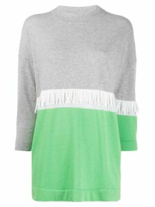 Fabiana Filippi colour-block roll-neck top - Green