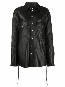 Faith Connexion leather shirt jacket - Black
