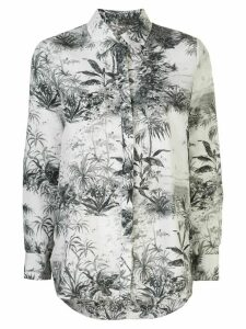 Adam Lippes plant print shirt - White