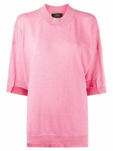 Maison Flaneur oversized short-sleeve T-shirt - PINK