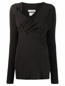 Bottega Veneta weave knit jumper - Brown