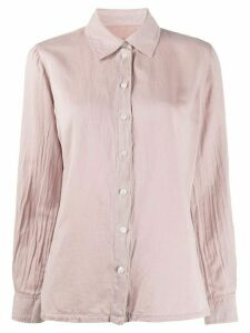 Raquel Allegra long-sleeved wrinkled-effect shirt - PINK