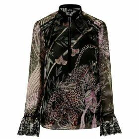Just Cavalli Silk Tunic Blouse
