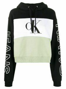 Calvin Klein Jeans colour blocked hoodie - Black