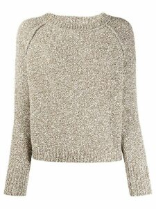 Fabiana Filippi textured knit jumper - Brown