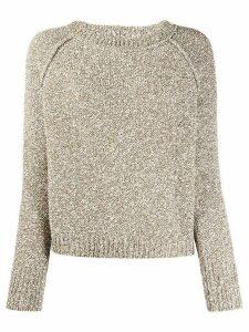 Fabiana Filippi textured knit jumper - Brown