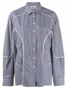 Each X Other striped panelled shirt - Blue