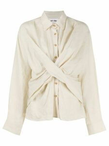 Each X Other cross-front shirt - Natural