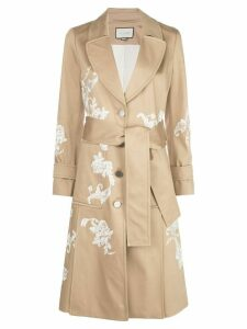 Alexis floral embroidered coat - NEUTRALS