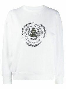 Ermanno Scervino embellished logo sweatshirt - White