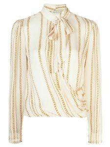 Nicholas Mila Vintage Chain print blouse - White