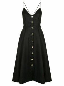 Nicholas flared button dress - Black