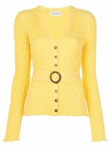 Nicholas belted waist cardigan - Yellow