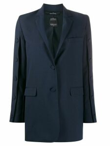 Rokh button detail blazer - Blue