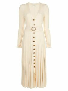 Nicholas front button pleated dress - Yellow