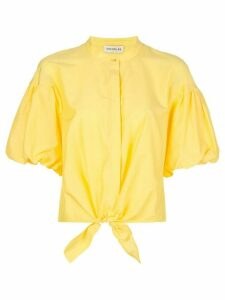 Nicholas tied front shirt - Yellow