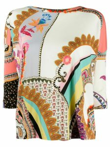 Etro paisley-print blouse - NEUTRALS