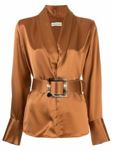 Nicholas Sahra belted blouse - ORANGE