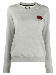 Markus Lupfer lips embroidered sweatshirt - Grey