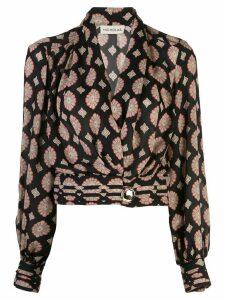 Nicholas floral print blouse - Black
