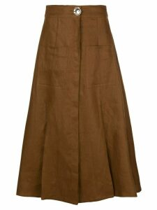 Nicholas button up skirt - Brown