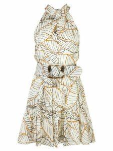 Nicholas Selima foliage dress - White