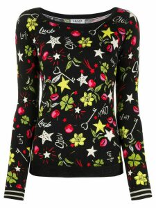 LIU JO Lucky Pop print jumper - Black