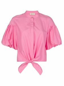 Nicholas tied front shirt - PINK