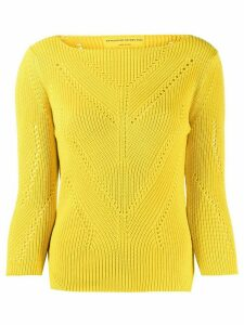 Ermanno Scervino perforated details jumper - Yellow