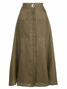 Nicholas button up skirt - Green