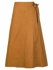 Nicholas wrap around skirt - Brown