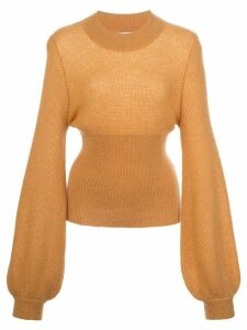 Nicholas elongated sleeve fine knit jumper - ORANGE