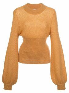 Nicholas elongated sleeve fine knit jumper - ORANGE