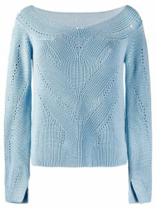 Ermanno Scervino boat neck jumper - Blue