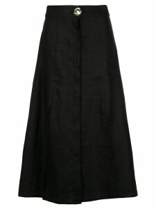 Nicholas button up skirt - Black