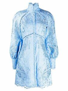 Zimmermann woven floral mini dress - Blue