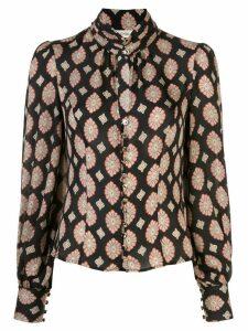 Nicholas Soraya Casablanca print blouse - Black