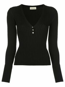 Nicholas ribbed jersey long-sleeve top - Black