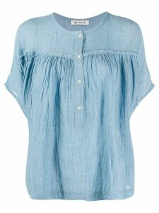Masscob crinkled top - Blue