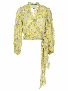 Alexis Odilo wrap top - Yellow