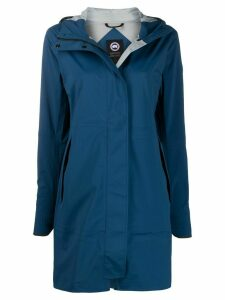 Canada Goose hooded logo patch coat - Blue