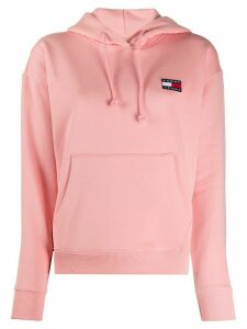 Tommy Jeans logo embroidered hoodie - PINK