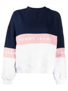 Tommy Jeans colour blocked sweatshirt - White
