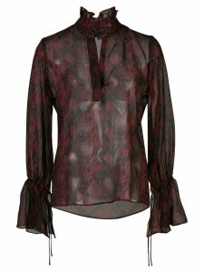 Nili Lotan Demi snake-effect printed blouse - Red