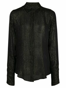 Nili Lotan sheer striped shirt - Black