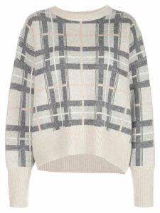 Le Kasha checked cashmere jumper - NEUTRALS