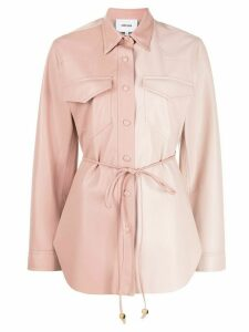 Nanushka waist-tied long sleeve shirt - PINK
