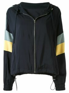 Goen.J colour-block zip-up hoodie - Blue